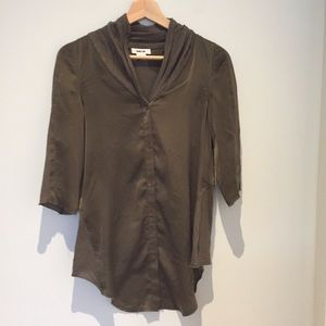 Helmut Lang silk and jersey blouse
